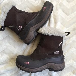 🥾 The North Face Heat Brown Pink Snow Winter Boot